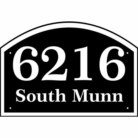 Personalized Two Line Arch Address Sign