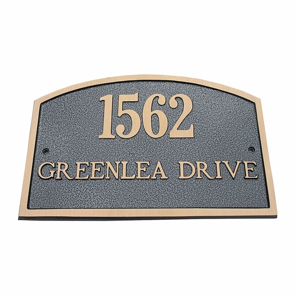 Personalized Two Line Cast Brass Address Plaque