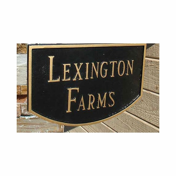 Two Sided Hanging Sign - Farm Name, Business Name Plaque, Address Sign, or Custom Message