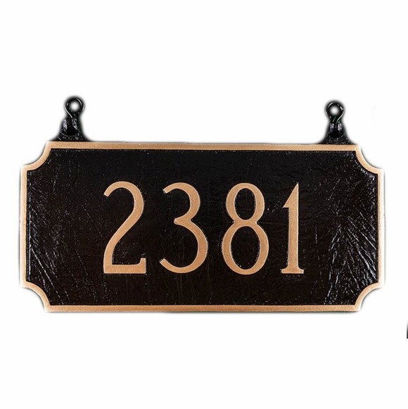 Personalized Two Sided Hanging House Number Sign