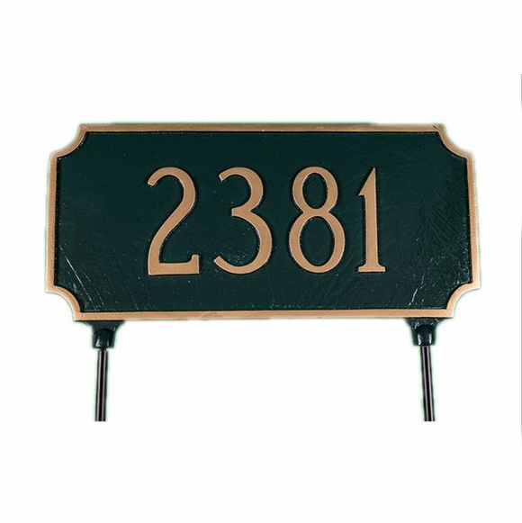 Two Sided Lawn Stake Address Sign - Address Plaque That Is The Same On Both Sides