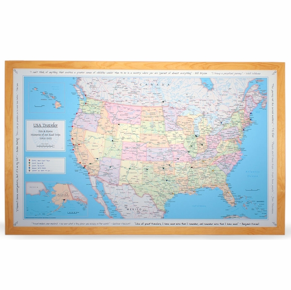 Personalized USA Traveler Map