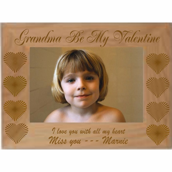 Custom Engraved Personalized Valentine's Day Picture Frame