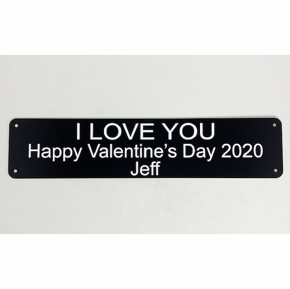 Personalized Valentine's Day 2020 Wall Plaque - Custom Three Line Sign