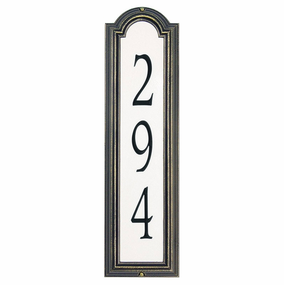 Personalized Vertical Reflective Address Sign
