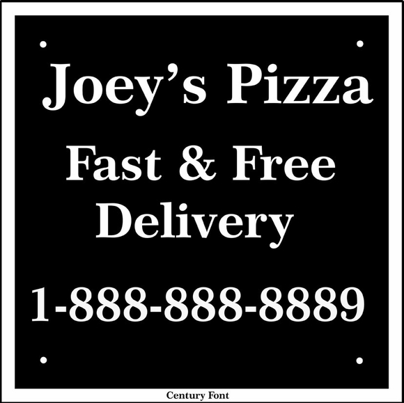 Personalized Business Sign