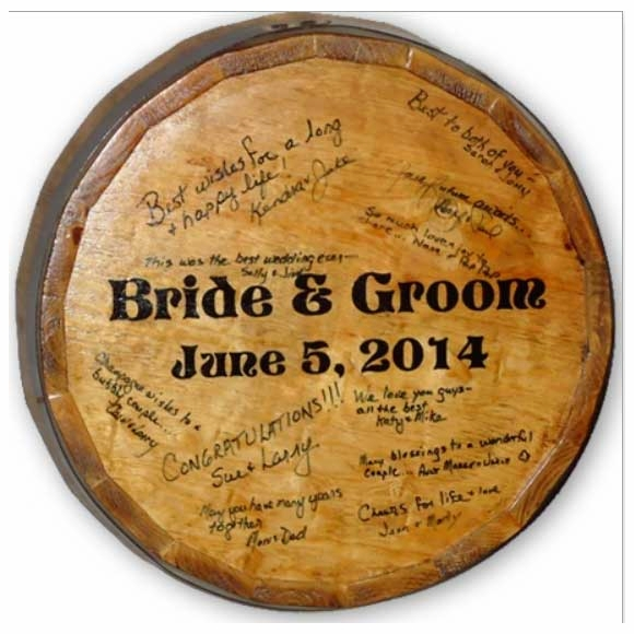 Personalized Wedding Signature Quarter Barrel Head