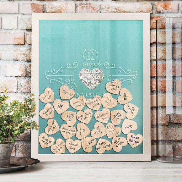 Personalized Wedding Token Drop Box Guest Book