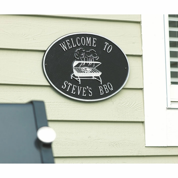 Personalized Welcome Sign with Barbeque
