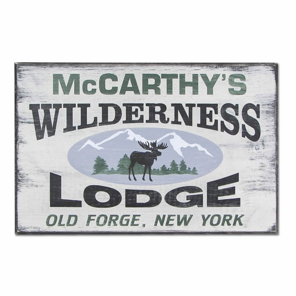 Personalized Wilderness Lodge Sign