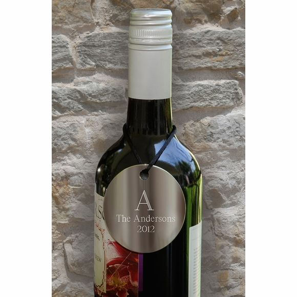 Personalized Wine Bottle Medallion