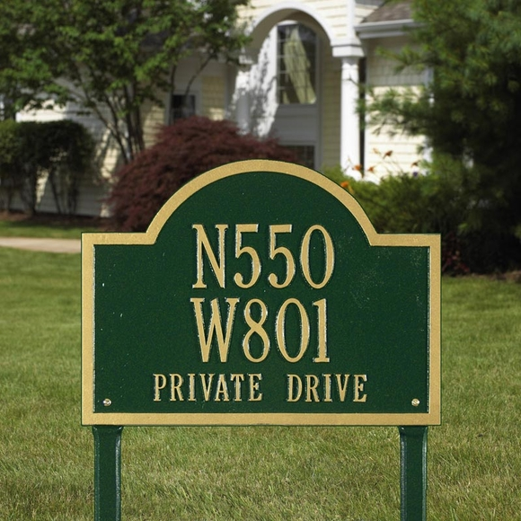 Personalized Wisconsin Special Address Plaque