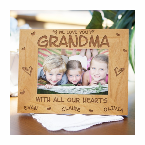 Personalized With All Our Hearts Picture Frame