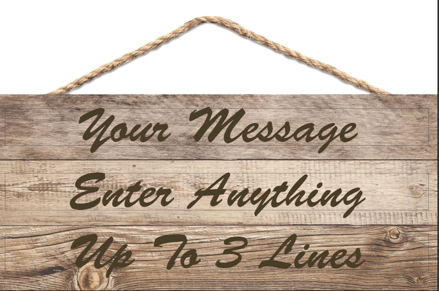 Wooden sign Personalized Wall Decor Engraved Wooden Wall Decor Hangable Custom message Hangable