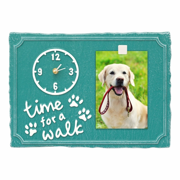 Pet Photo Wall Clock time for a walk