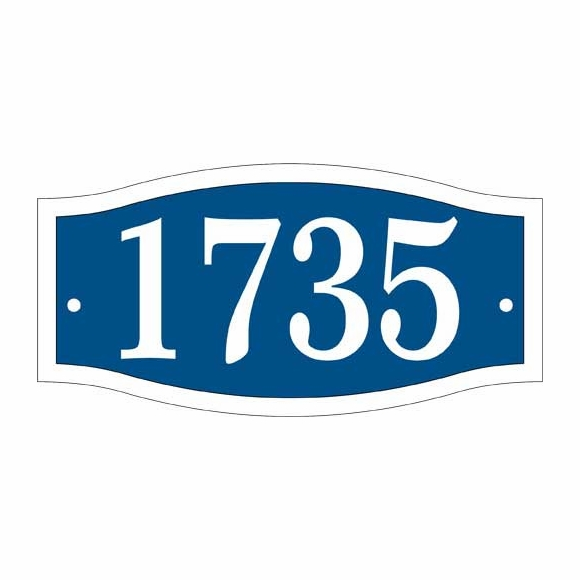 Small Double Arch Address Plaque