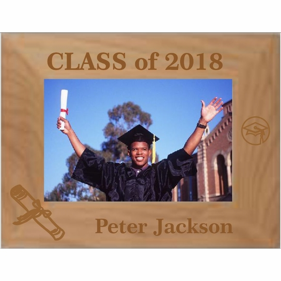 Picture Frame for Graduation Photo Personalized & Custom Engraved