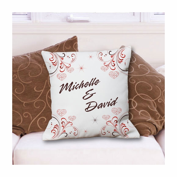 Pillow Personalized with Couples Name
