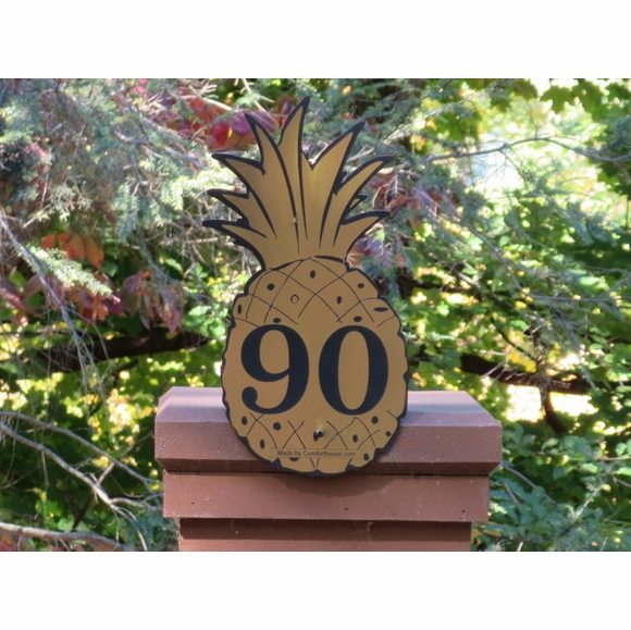 Pineapple Shape House Number Sign