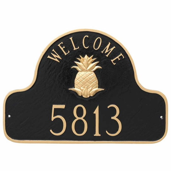 Pineapple Welcome Home Address Plaque