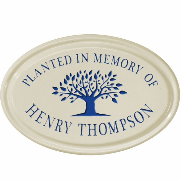 Planted in Memory of Personalized Ceramic Plaque