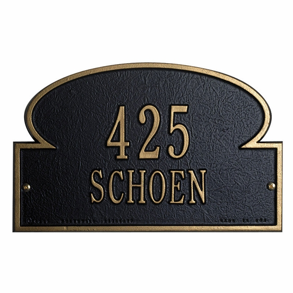 Portobello Address Plaque - Mushroom Shape House Number Sign