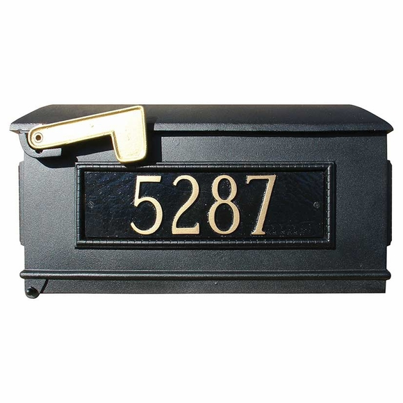 Post Mount Mailbox With Address Number Plaques
