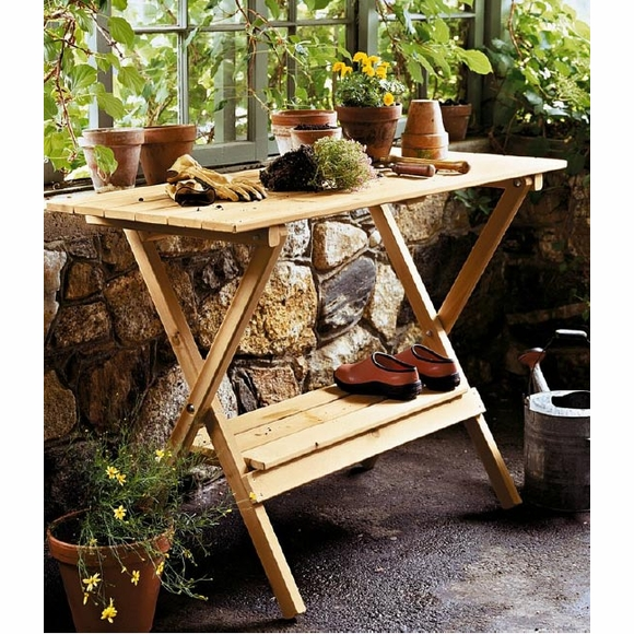 Potting Bench Console Table