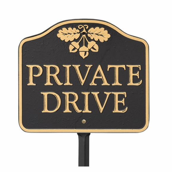 Private Drive Sign Metal Lawn Sign or Wall Sign