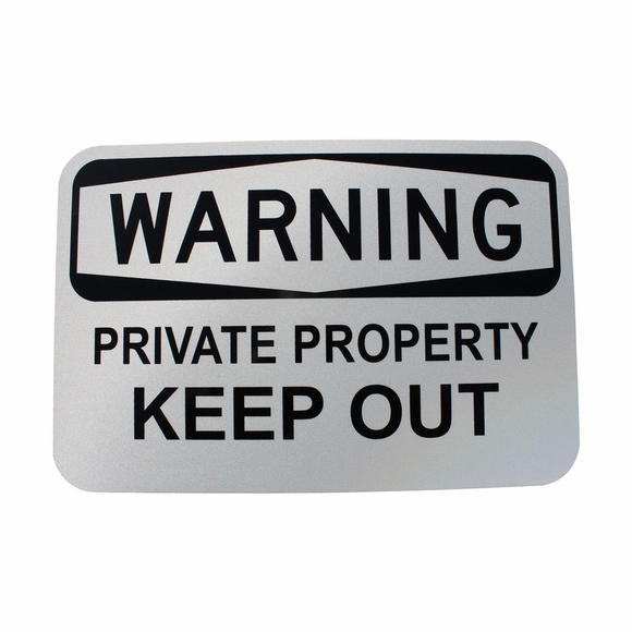 Private Property Keep Out Reflective Warning Sign