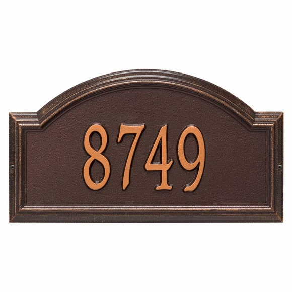 Providence Arch Address Plaque Antique Copper