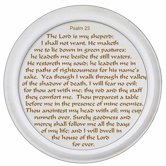 Psalm 23 Hanging Wall Art Plaque