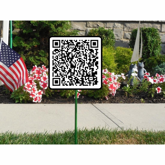 QR Code Address Sign