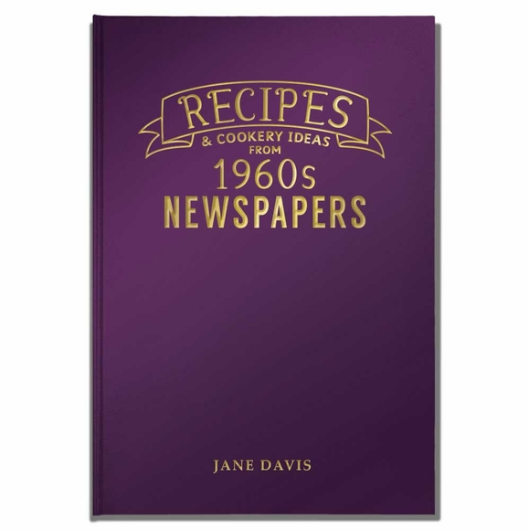 Recipes from 1960s British Newspapers Personalized Newspaper Book