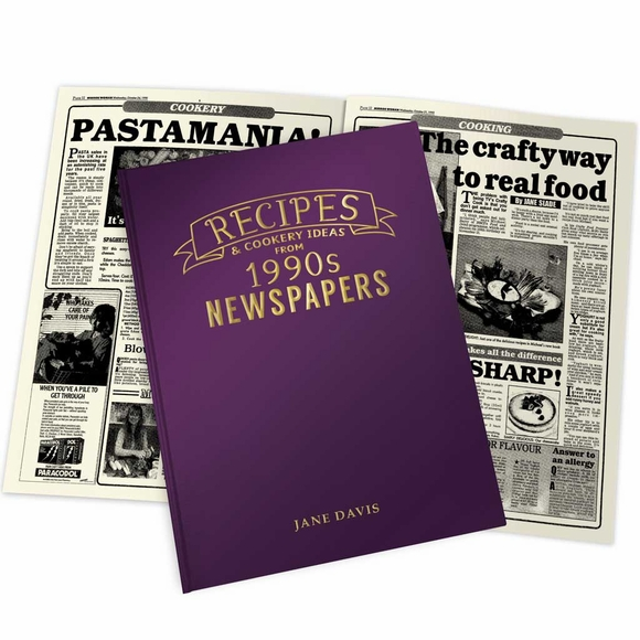 Recipes from 1990s British Newspapers Personalized Newspaper Book
