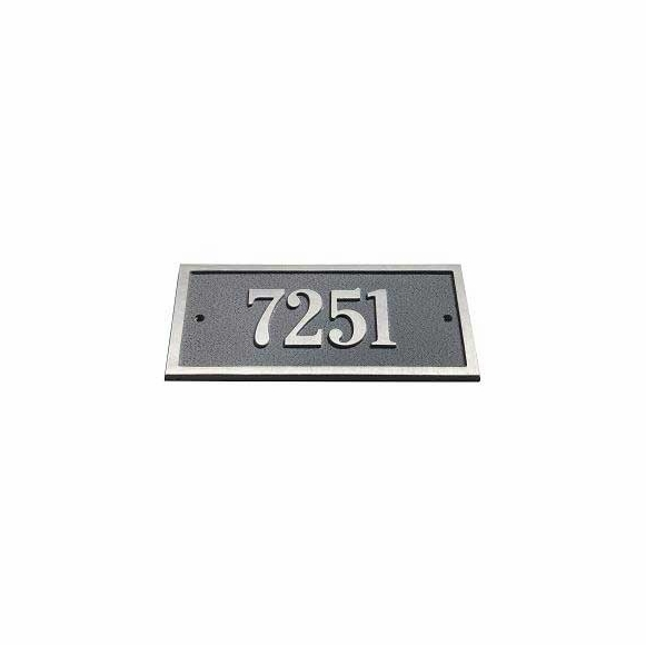 Rectangle Address Plaque with House Number