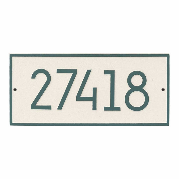 Rectangle House Number Plaque With Modern Font