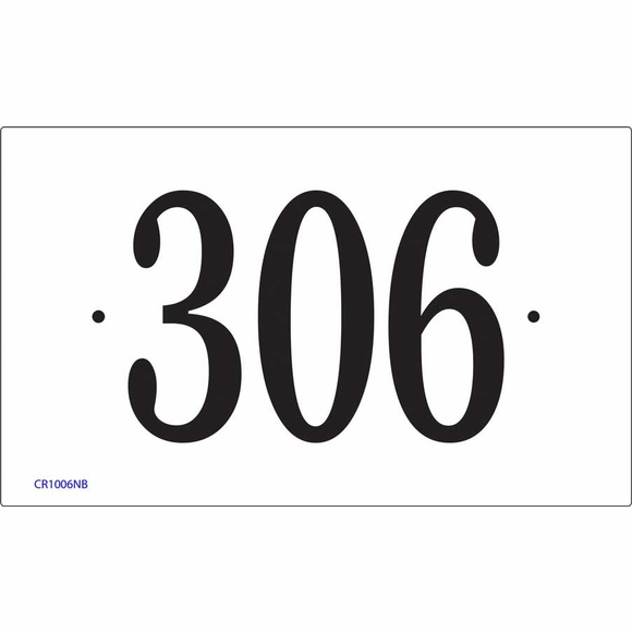 Rectangle House Number Sign - Comfort House P2552
