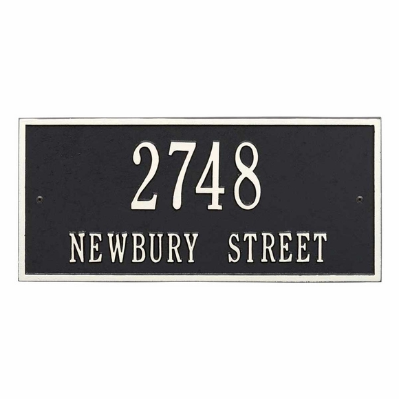 Aluminum Metal Address Sign - Rectangle Shape Address Plaque