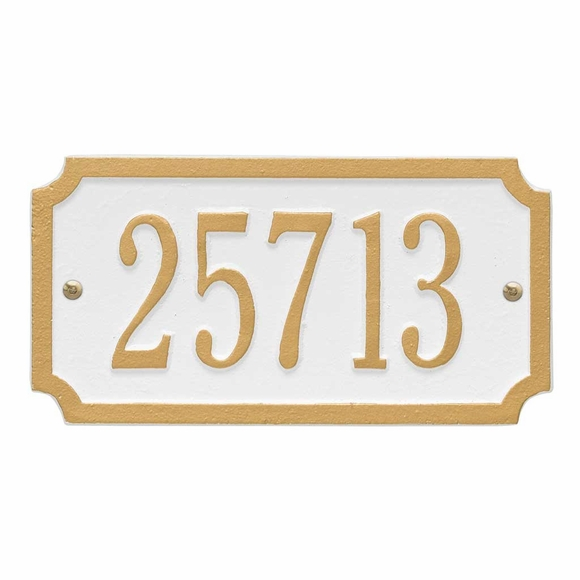 Rectangular Home Address Sign