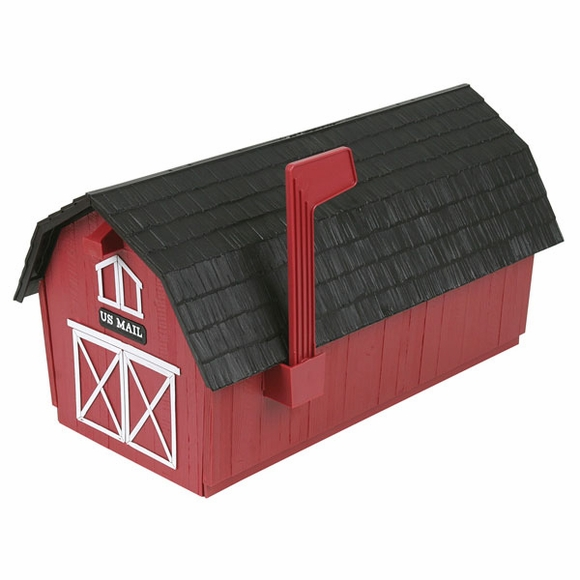 Red Barn Post Mount Mailbox