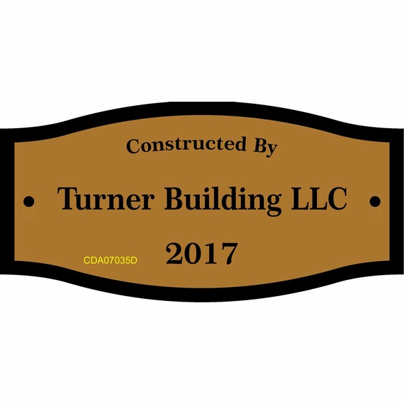 Builder Plaque - Constructed, Erected or Built By Custom Sign