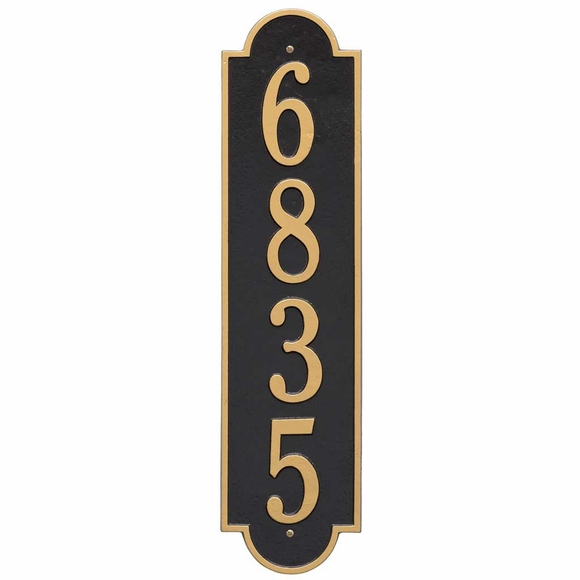 Vertical House Number Marker for Narrow Spaces