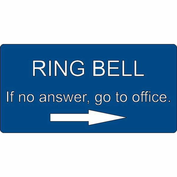 Ring Bell Office Sign