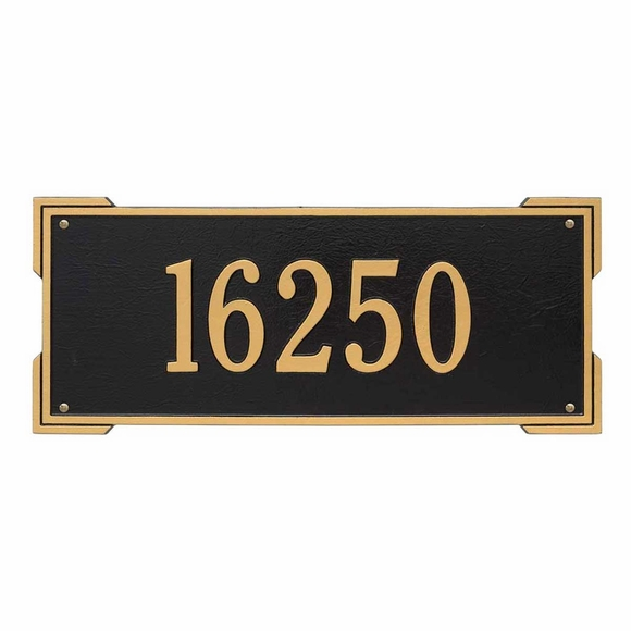 Roanoke Estate Double Corner Rectangle Address Sign