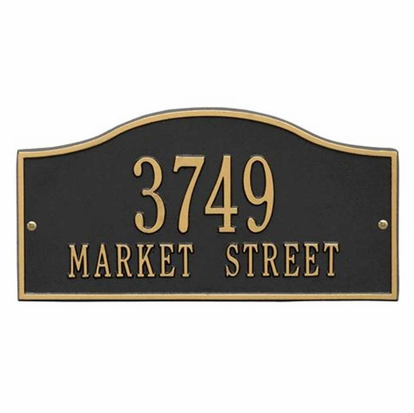 Arch Shape Metal Address Plaque With House Number And Street Name