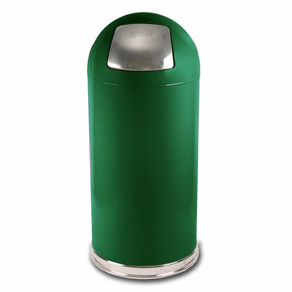 Round Top 15 Gallon Waste Receptacle