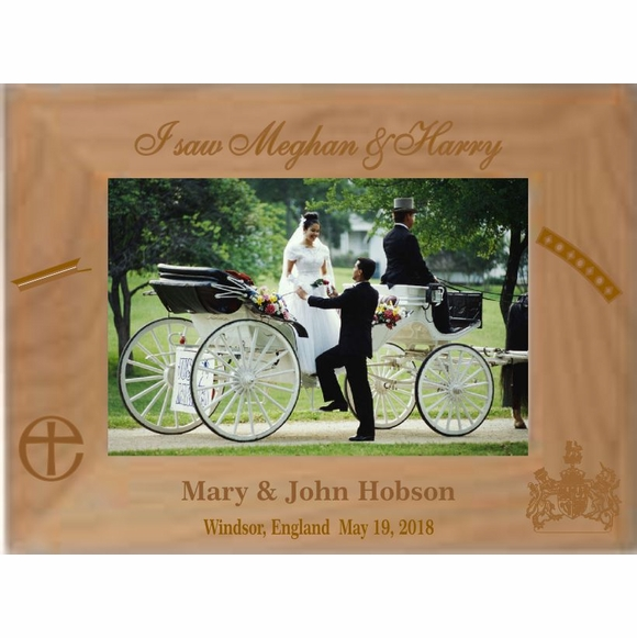 Royal Wedding Personalized Picture Frame