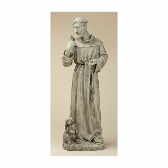 Saint Francis Garden Statue With Rabbit And Bird