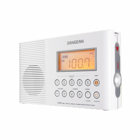 Waterproof AM FM Radio for Shower or Outdoors